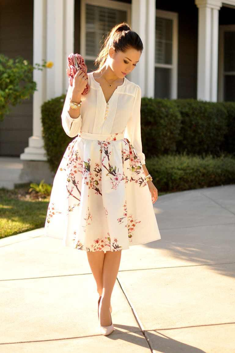Cherry Blossom A-Line Skirt from Trendy Wendy'z Boutique | Skirts ...