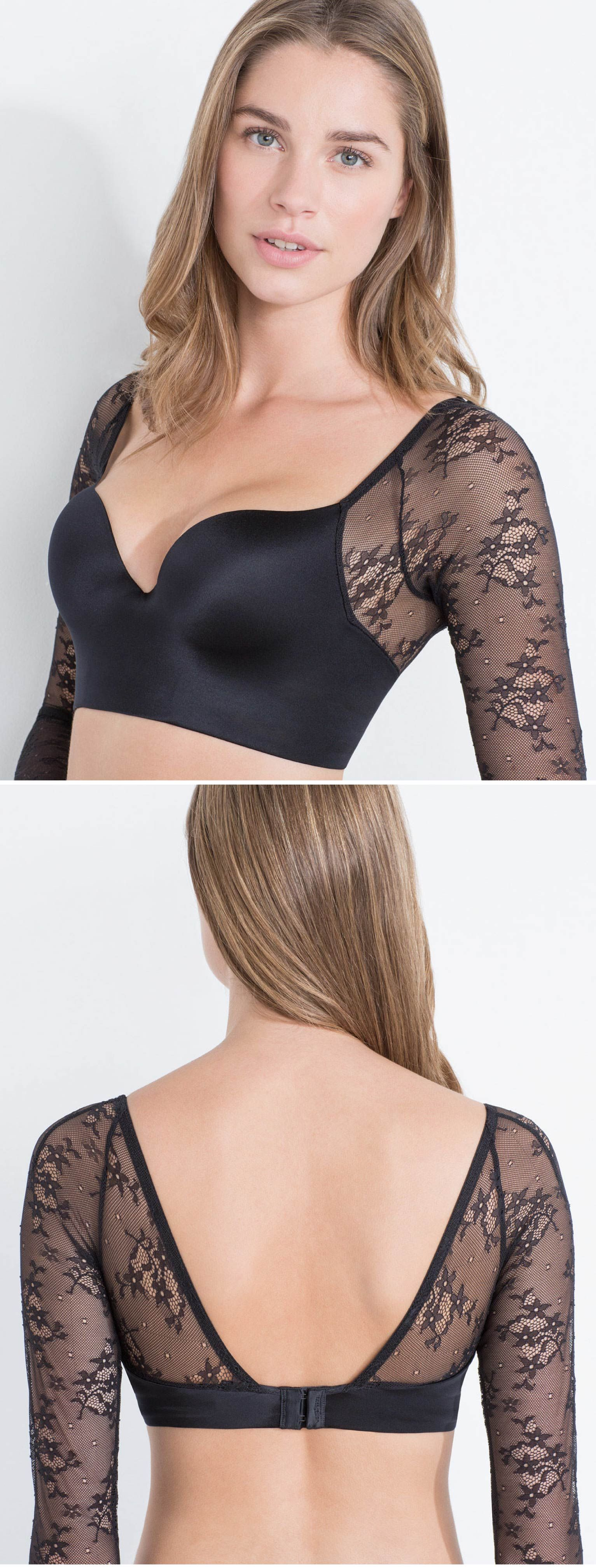 e2445a76b4c90 Long lace sleeve push up bra - Limited Edition