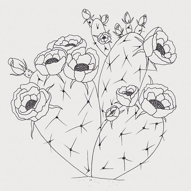 Working On A Prickly Pear Cactus Tattooart Tattoos Ink Tattoo