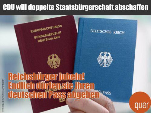 Genau! Kriminelle Reichsbürger abschieben! ;-)