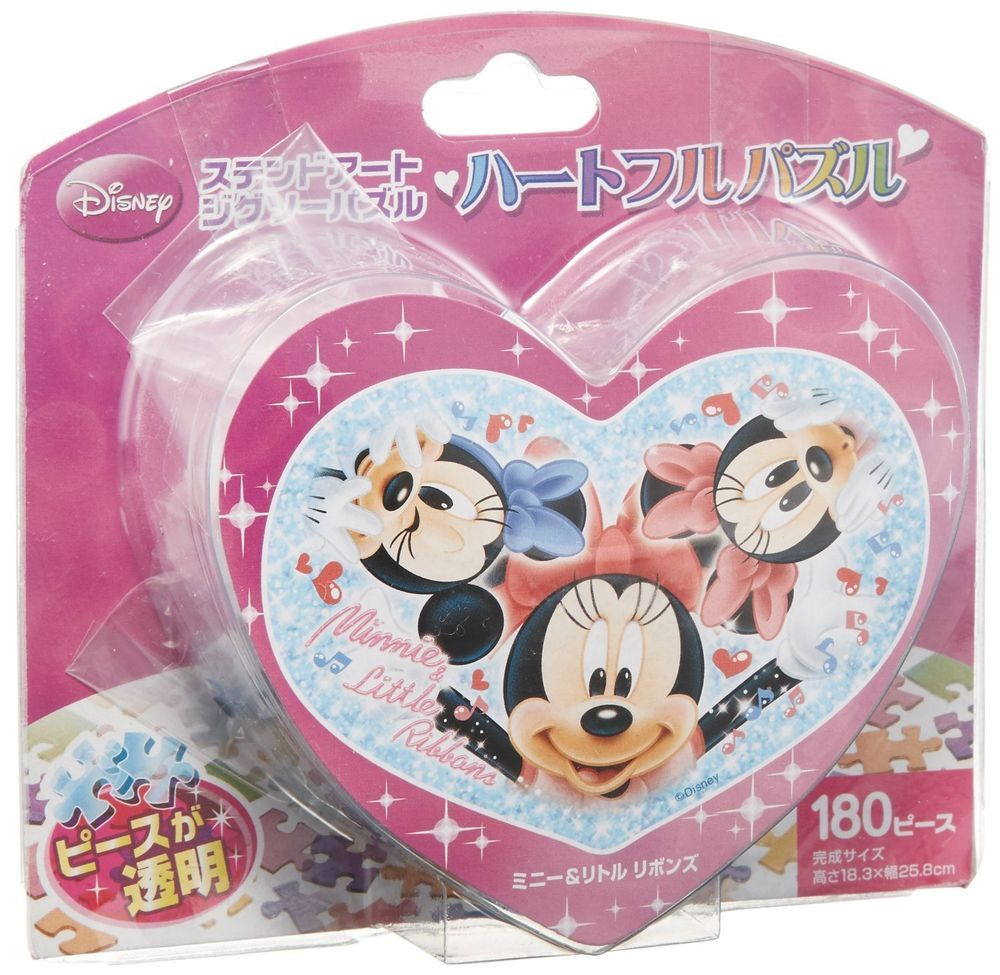 Disney Heart full puzzle 180 piece. Minnie & Little ribbon's (Japan imports) #Disney