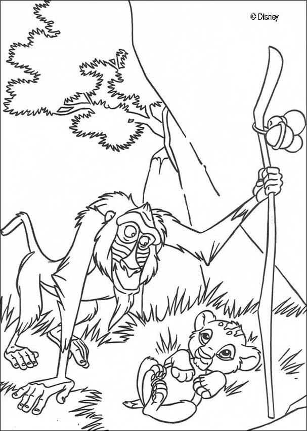 lion king disney colouring pages  page 2