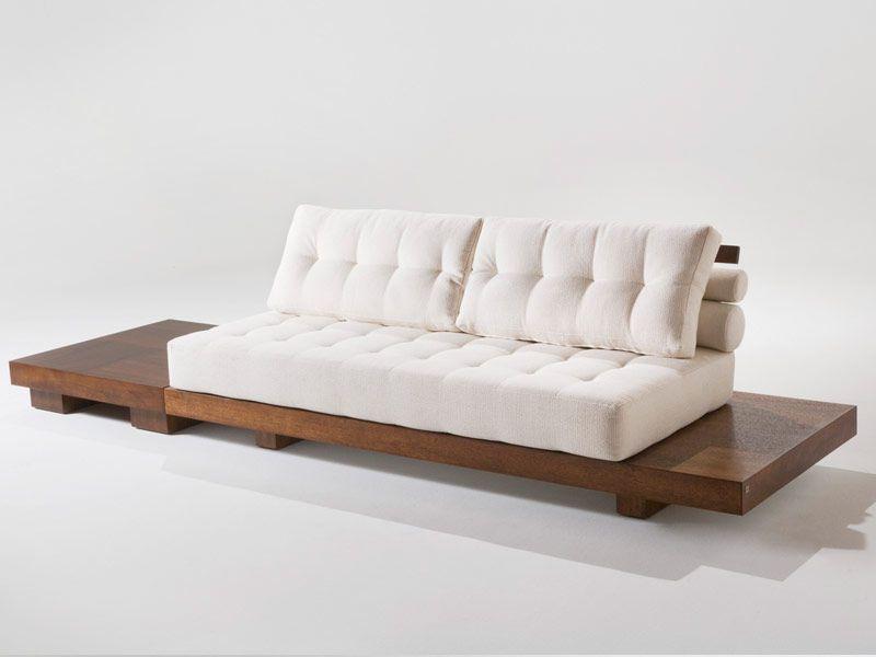 Sof moderno de madera 2 plazas africa 400 adriana - Sofas de madera ...