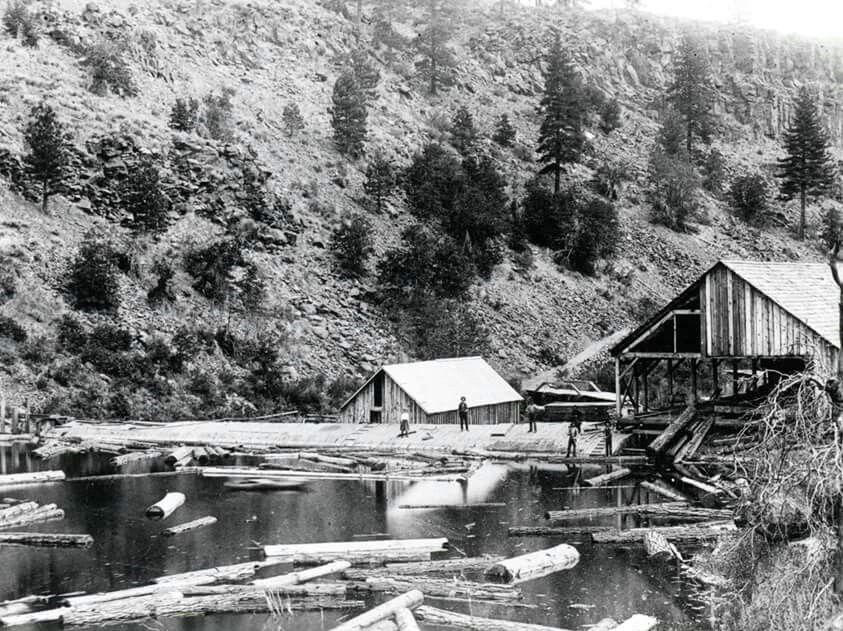 Bremner sawmill on Susan River 1890