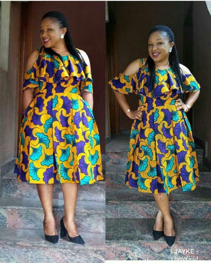 Pin von Okoye auf Robe de jour Wax | Pinterest | Runde