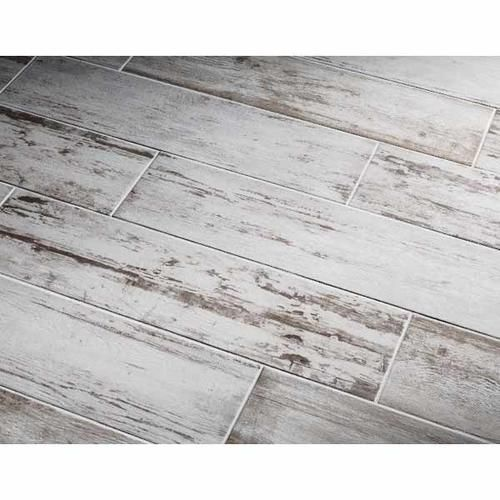 Southend Whitewashed Wood Glazed Porcelain Tile Common: 8-in x 32-in; - Southend Whitewashed Wood Glazed Porcelain Tile Common: 8-in X 32