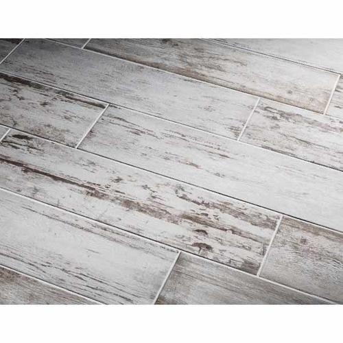 Southend Whitewashed Wood Glazed Porcelain Tile Common 8