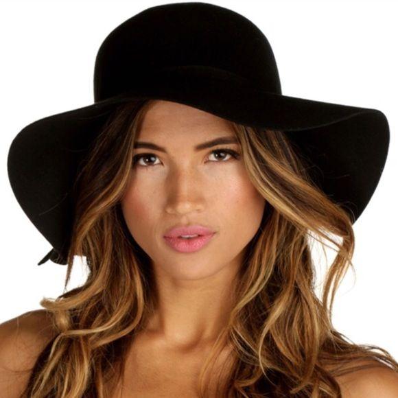 Floppy black hat Black felt. Brand new. Accessories Hats
