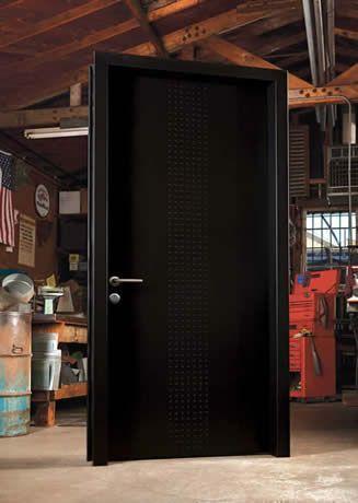 neoporte modern door contemporary door stainless steel entry systems jet black - Modern Exterior Metal Doors