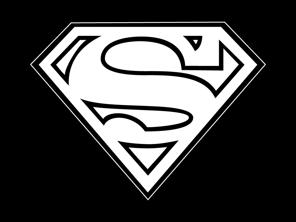 simple black and white tattoos search superman