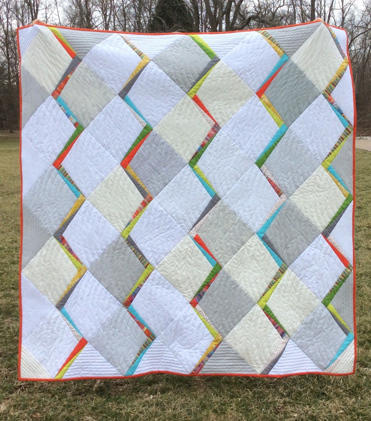 Mid Century Modern Throw Quilt Quilts Modern Quilt