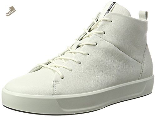 ECCO Women's Women's Soft 8 High-Top Fashion Sneaker, White, 35 EU/
