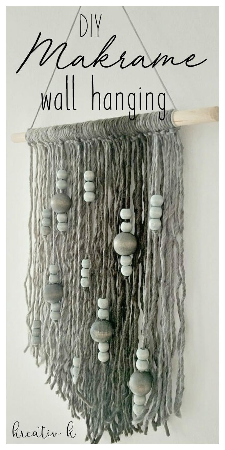 Diy Makrame Wall Hanging Yarn Wall Art Macrame Art