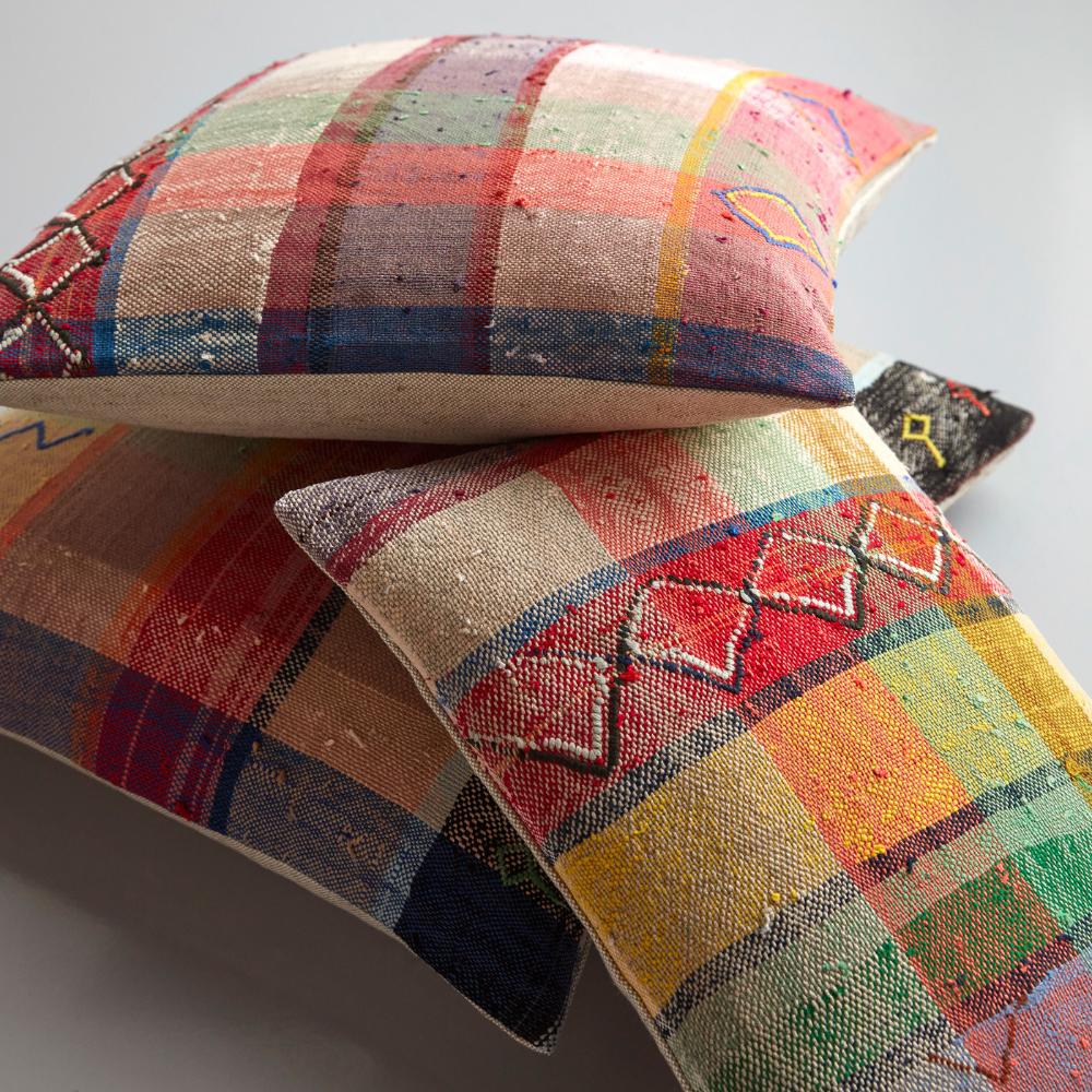 louis plaid throw pillow cover 12 x 18