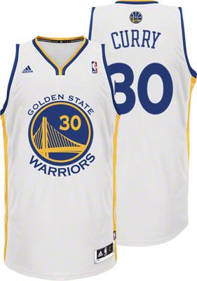 c90f1d803 Golden State Warriors Jersey Stephen Curry White adidas Revolution 30  Swingman