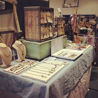 Show Recap Craft Show Displays Rustic Jewelry Display Craft Table Display