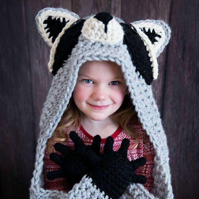 Woodland Raccoon Blanket Crochet Pattern - Hooded Woodland Racoon Blanket Crochet PATTERN MJ's Off The Hook Design #crochetedkitemsthatsell