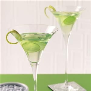 Apple Martini Recipe -Sour green apple steals the show in this icy-cold martini. It's very refreshing with a nice hint of sour.—Taste of Home Test Kitchen