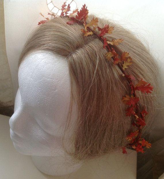 Fall Wedding Hairstyles With Flower Crown: Miss Canada: Maple Leaf Fall Wedding Hair Wreath
