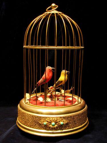 Karl Griesbaum Mid-Century Bird Cage Music Box