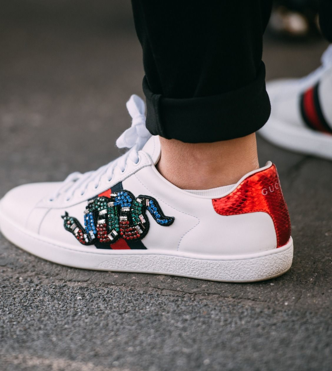 df9dcb7fe79 Look no further for your wardrobe ace this season. Discover The One pair of Gucci  Ace sneakers for you on Farfetch now.