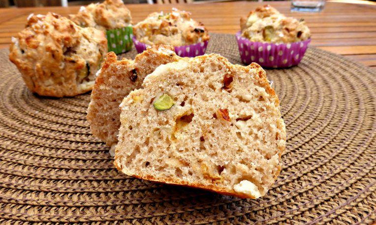 ROASTED VEGETABLE AND FETA WHOLEMEAL MUFFINS
