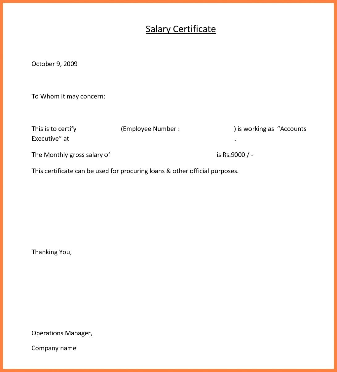 Employee Salary Certificate Format Ten Reasons Why
