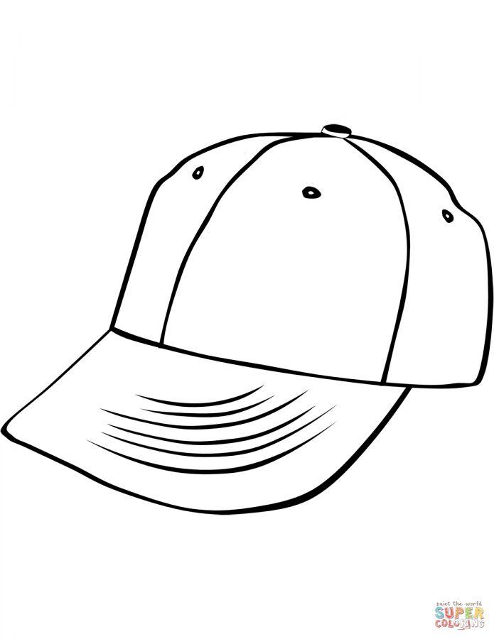 8 Baseball Hat Coloring Page Baseballcapcoloringpage