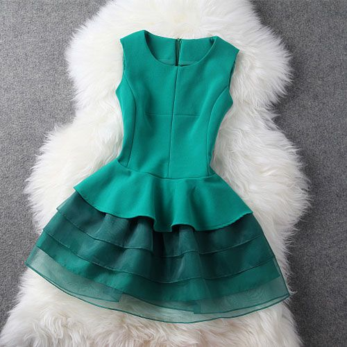 Tiered Wiggle Dress Tutu Skirt for Cocktail Evening