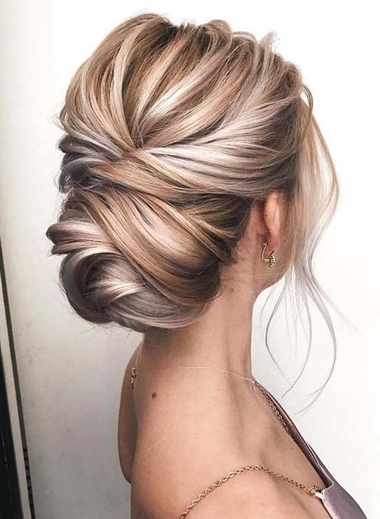 Google Image Result For Https Www Fashiongaps Com Wp Content Uploads 2019 04 2019 Wedding Hairstyle Ideas For Medium Leng In 2020 Hair Styles Blonde Updo Granny Hair