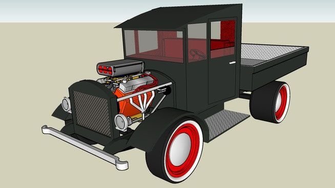 Free download SketchUp Components 3D Warehouse - Truck