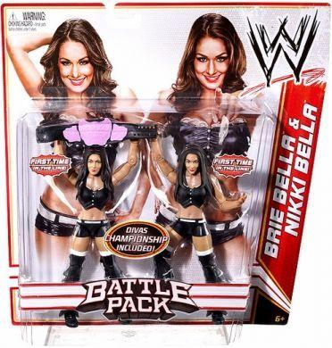 WWE Superstars Nikki Bella Diva Action Figure with vanity mirror and tops