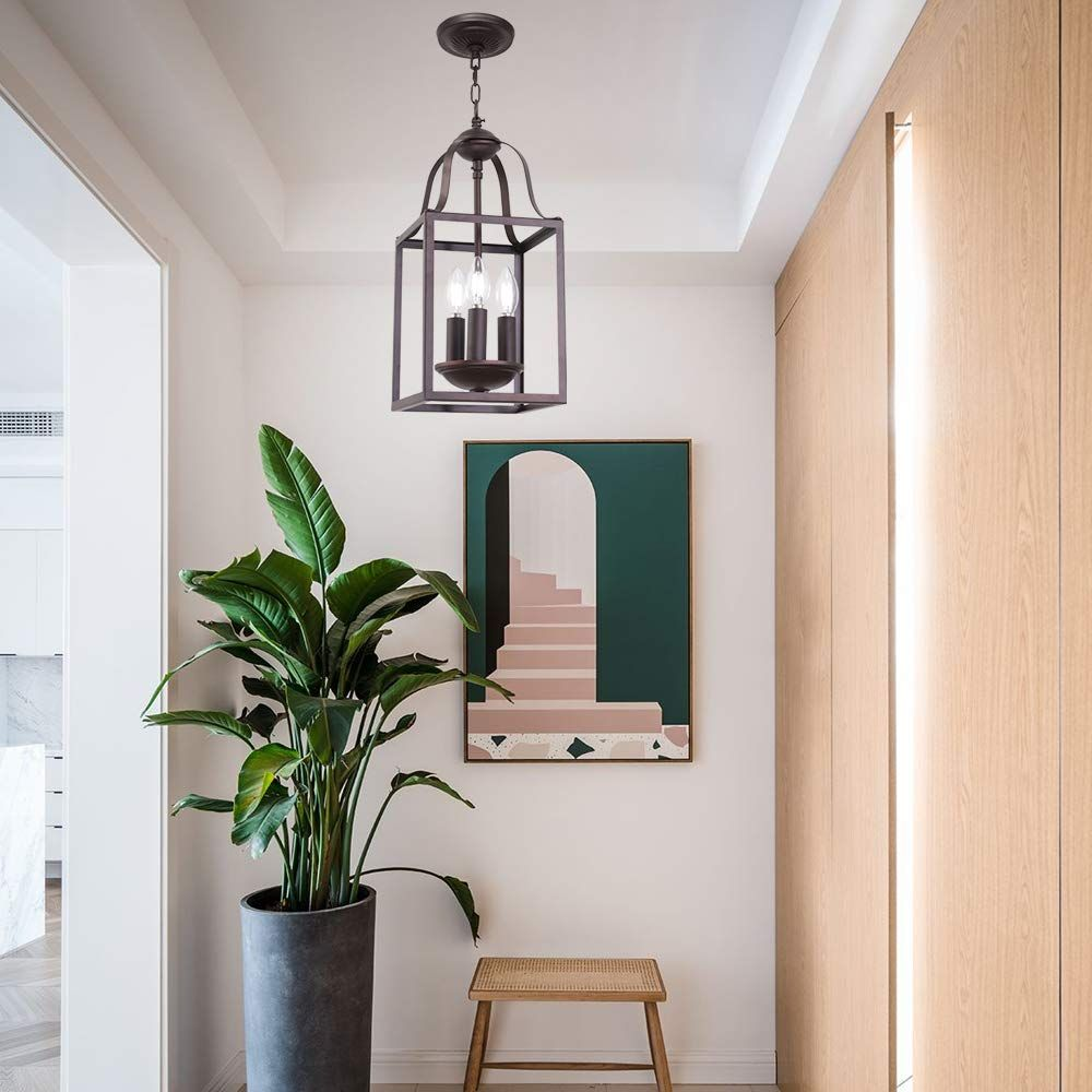 Hampton Bay Somerset 1 Light Oil Rubbed Bronze Mini Pendant With Bell Shaped Frosted Glass Shade Hanging Pendant Lights Pendant Lighting Pendant Light Fixtures