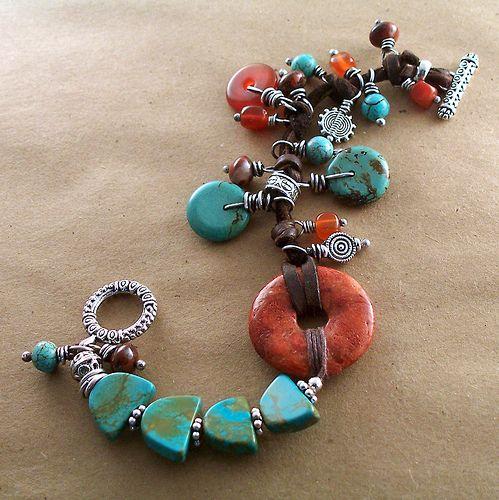 sponge coral and magnesite bracelet 015   SOLD   Keirsten Giles   Flickr