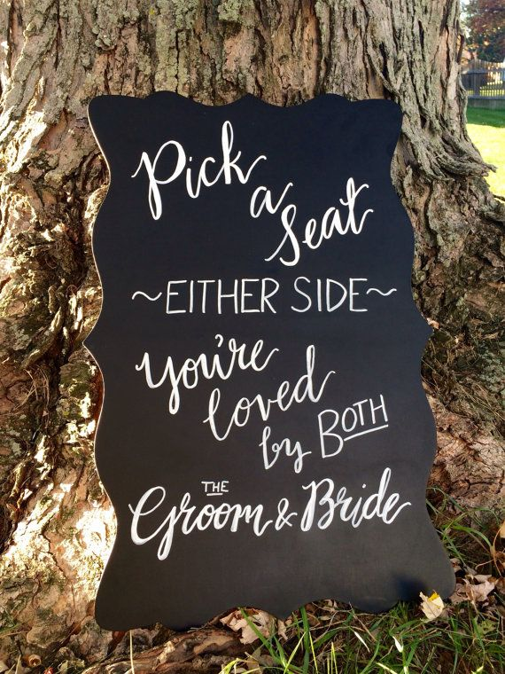 Pick a Seat Wedding Ceremony Sign by Scriptsakes on Etsy | Never