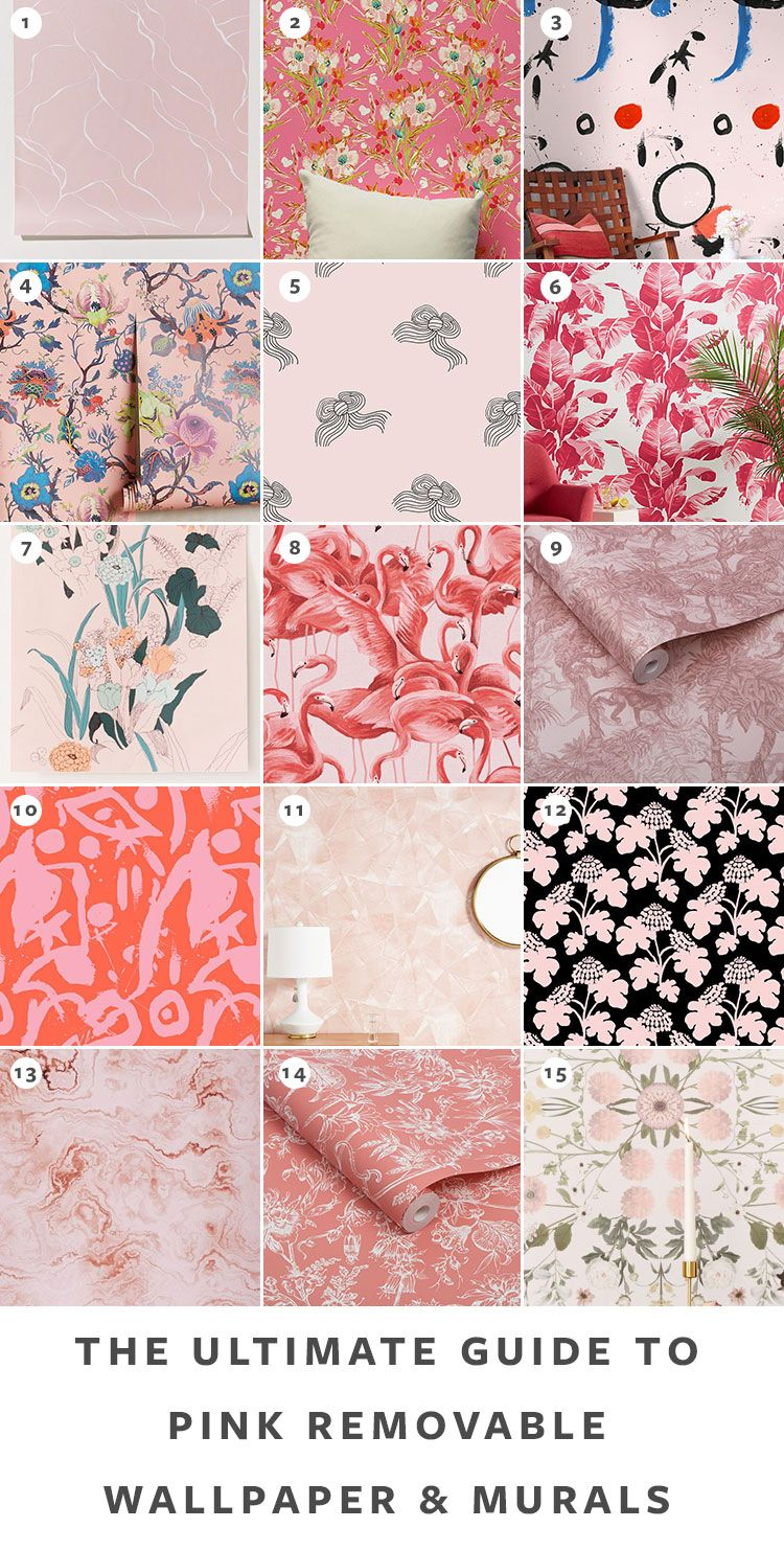 The Ultimate Guide To Removable Wallpaper The Best Patterns In 2020 Pink Removable Wallpaper Removable Wallpaper Temporary Wallpaper