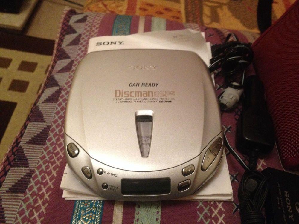 Sony car ready discman portable cd player d e446ck stuff - Mobile porta cd ...
