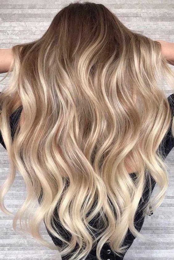 Photo of Haarschnitt più biondo; bionda Haarfarben; Balayage z. Hd Blondes Haar; roségoldfarbene Frisur ….