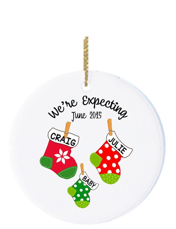 Personalized Christmas Ornaments Expecting Ornament by Ornamentz - Personalized Christmas Ornaments Expecting Ornament By Ornamentz