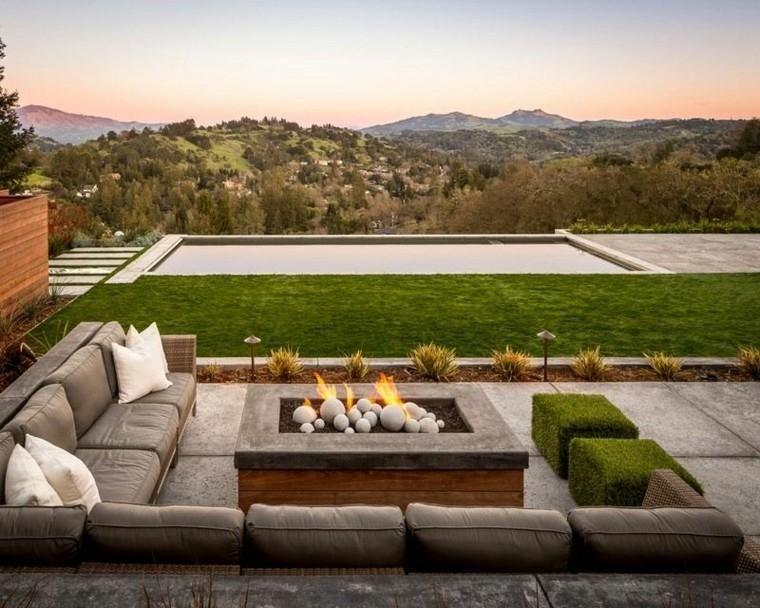 Sommerküche Für Terrasse : Feuer für außenräume moderne ideen gartenterrasse