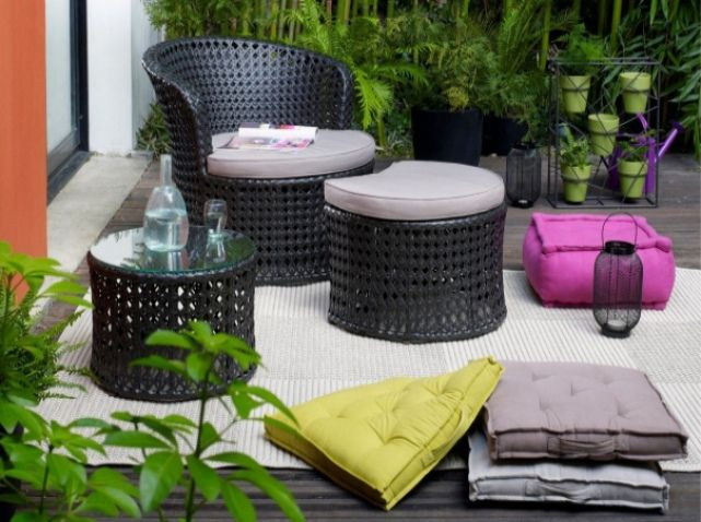 Idee deco terrasse tapis sol outdoor pinterest for Idee deco terrasse