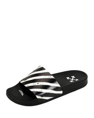 bc4bcb2e053 Off-White Men s Pool Slide Spray Sandals