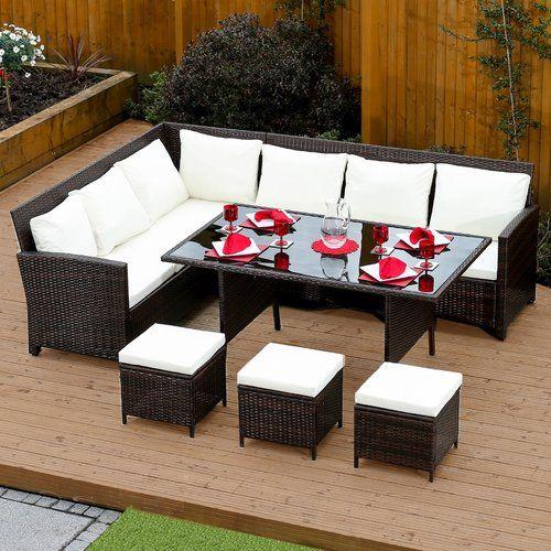 Sol 72 Outdoor 9 Seater Rattan Sofa Set