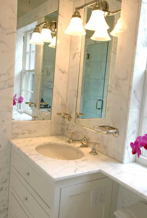 The Wills Company  Bathrooms  Inset Mirrors Marble Backsplash Entrancing Bathroom Cabinets Company Review