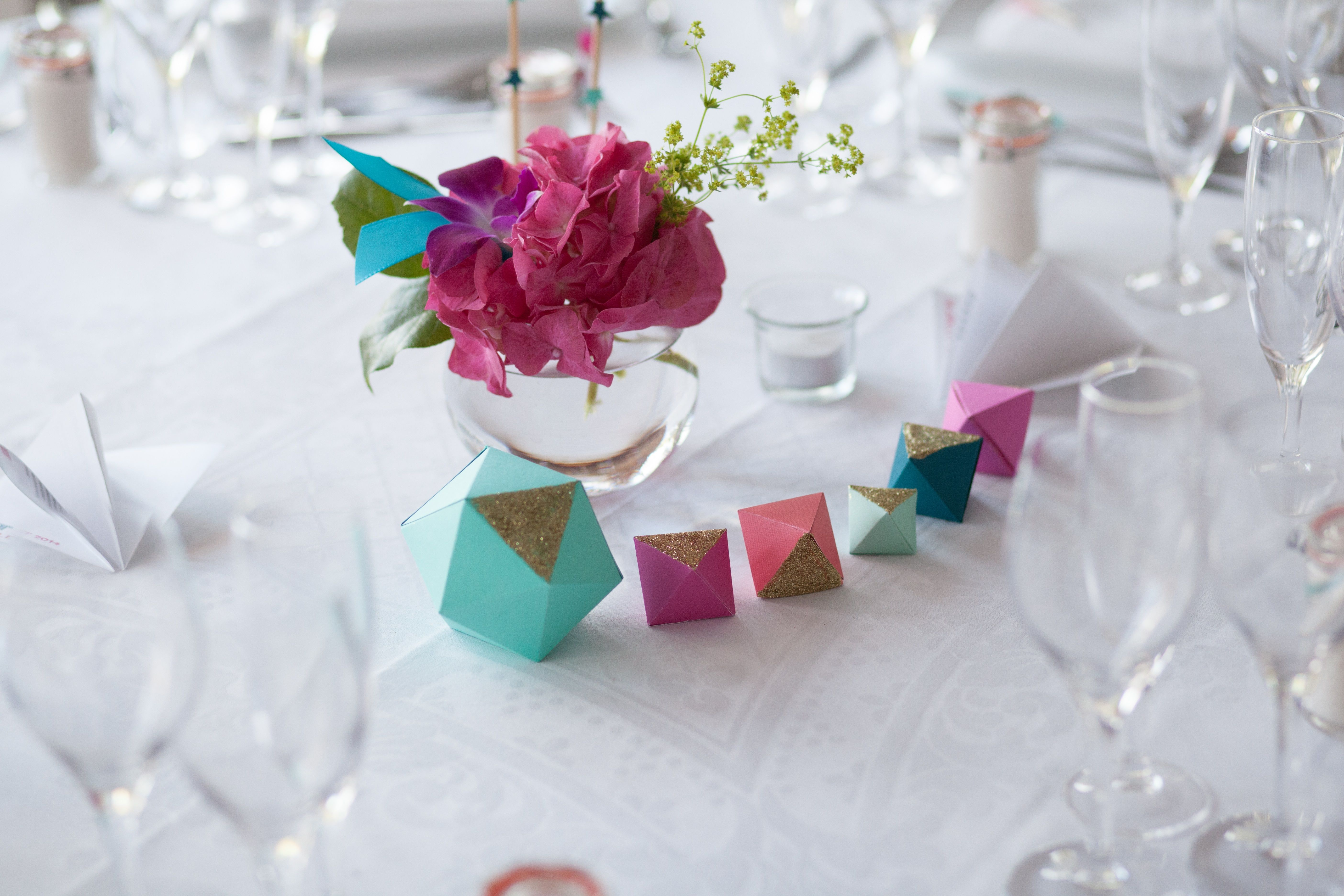 Mariage Origami - Made by Dellan | Table decorations | Pinterest ...
