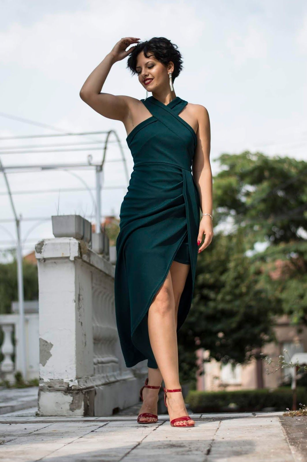 061b660a43337 #SHEIN Green Maxi Christmas Dress Cheap Long Dresses, Green Maxi, Party  Dresses For
