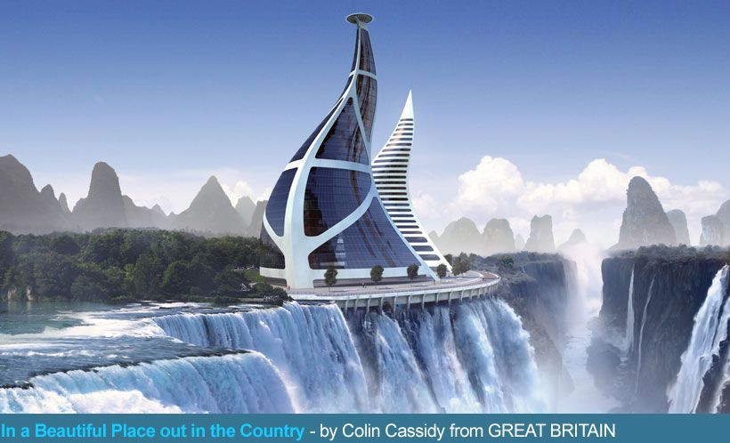 The Beautiful Future Architecture Designs with Amazing Modern Ideas: Future  Architecture Design Building With Waterfall With Unique Shape Of.