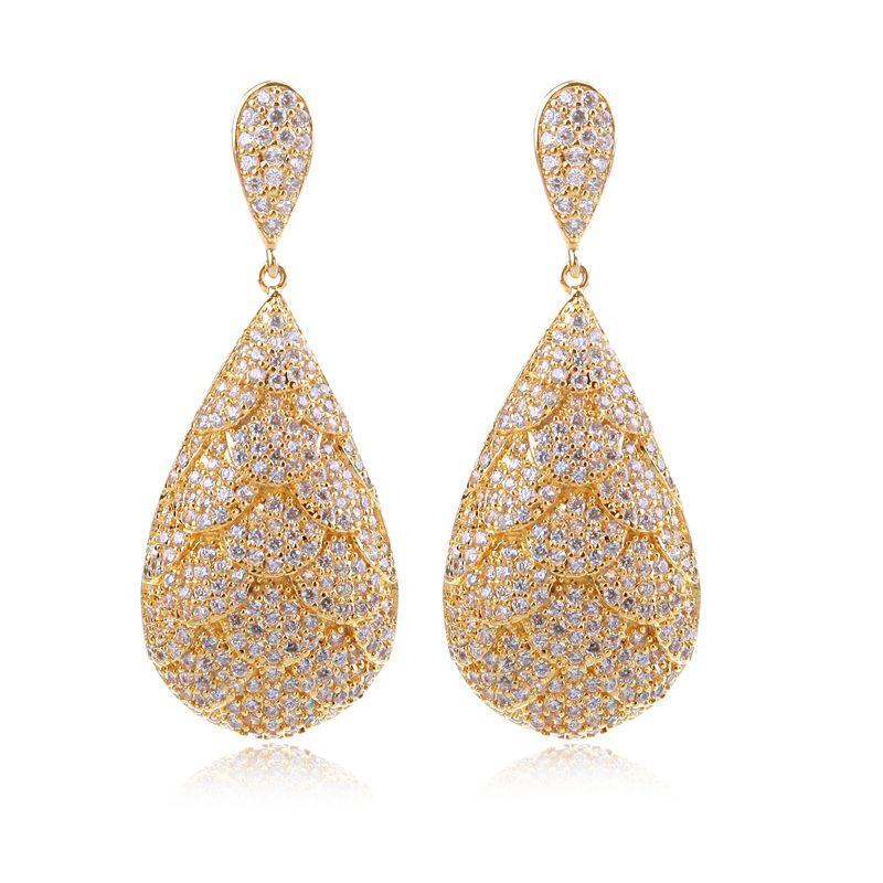 Latest Dress Bride Earrings Women Wedding Gift Top Quality Micro ...