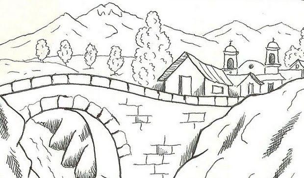 Pin Oleh Pemandangan Alam Di Pemandangan Alam Art Pencil Drawings