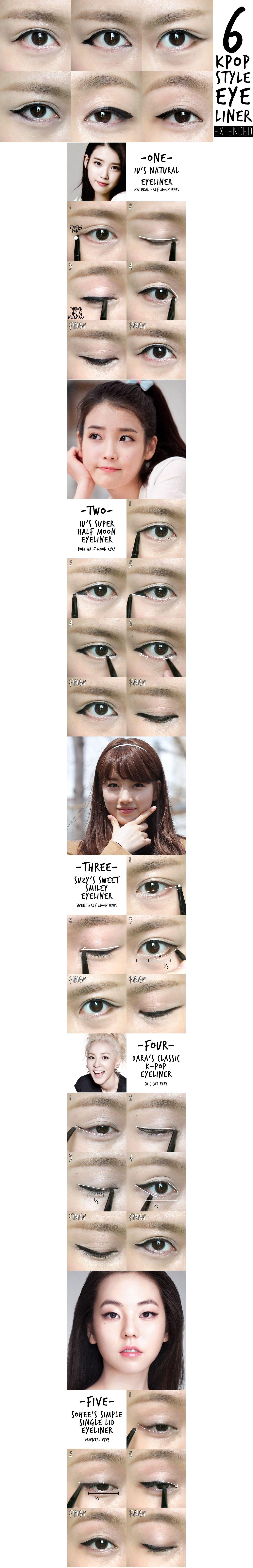 6 k pop eyeliner ⭐️⭐️  #JoinNerium #DebbieKrug #NeriumKorea www.AsianSkincare.Rocke